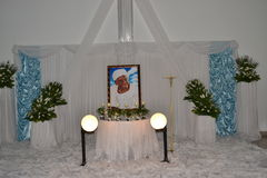 RELIGIOUS VIGIL OF THE MOTHER OF ACTING CHAIRMAN OF THE POPULAR FRONT IVOIRIAN , PARTY OF PRESIDENT LAURENT GBAGBO Stock Photo