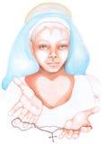 Religious woman stock photo