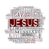 Religious Words isolated on white Stock Photos