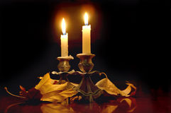 Religiya. minnes- stearinljus Royaltyfria Bilder