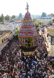 RELIGOUS CEREMONY AT SRIRANGAM. A religous hindu ceremony, which is performed yearly once at sri rangam devotes preforemed to pull charriot Royalty Free Stock Image