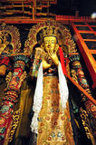 """Religous Statue in Drepung Monastery. Drepung Monastery (literally """"Rice Heap"""" monastery) located at the foot of Mount Gephel, is one of the great three Stock Image"""