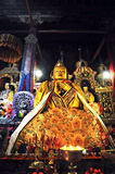"""Religous Statue in Drepung Monastery. Drepung Monastery (literally """"Rice Heap"""" monastery) located at the foot of Mount Gephel, is one of the great three Royalty Free Stock Photo"""