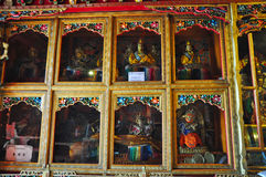 Religous Statues in Drepung Monastery Royalty Free Stock Photography