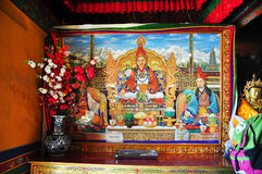Religous Statues in Drepung Monastery Royalty Free Stock Photo