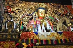 Religous Statues in Drepung Monastery Stock Photo