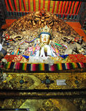 """Religous Statues in Drepung Monastery. Drepung Monastery (literally """"Rice Heap"""" monastery) located at the foot of Mount Gephel, is one of the great three Stock Photos"""