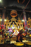 """Religous Statues in Drepung Monastery. Drepung Monastery (literally """"Rice Heap"""" monastery) located at the foot of Mount Gephel, is one of the great three Stock Images"""
