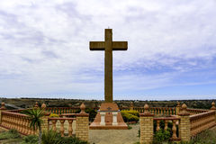 Religouse cross on the hill. All Nations Marian Centre - Our Lady of Ta'Pinu-Bacchus Marsh Royalty Free Stock Image