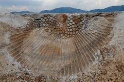 Relik av den Hierapolis teatern, Hierapolis forntida stad, Pamukkale, Fotografering för Bildbyråer