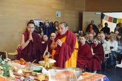 Reliken för den Maitreya hjärtarelikskrin turnerar Royaltyfria Bilder