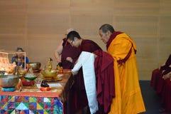 Reliken för den Maitreya hjärtarelikskrin turnerar Fotografering för Bildbyråer