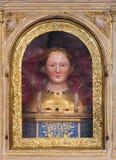 Reliker av helgonet Fina på Santa Fina Chapel i San Gimignano Royaltyfri Bild