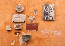 Reliker som markerar lokalen av Circoloen, dör ragazzidel 48 Arkivfoton