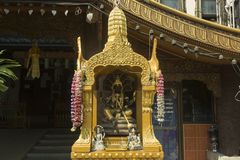 Relikskrin av den hinduiska gudinnan av ormar och gift Royaltyfri Foto