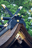 Relikskrin av Hongu Taisha, på Kumano Kodo, Kansai, Japan Fotografering för Bildbyråer