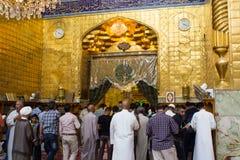 Relikskrin av imamen Abbas Arkivbilder