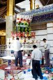 Relikskrin av imamen Abbas Arkivfoton