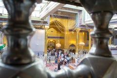 Relikskrin av imamen Abbas Royaltyfria Bilder