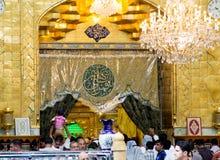 Relikskrin av imamen Abbas Royaltyfri Bild