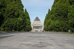 Relikskrin av minnet museet för krigminnesmärke i Melbourne, Victoria stat av Australien Arkivfoto