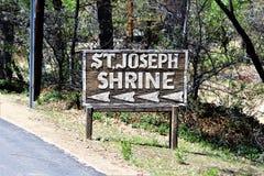 Relikskrin av Saint Joseph av bergen, Yarnell, Arizona, Förenta staterna Arkivfoton