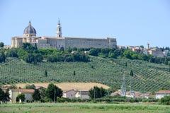 Relikskrin av vår dam på Loreto på Marche Arkivbilder