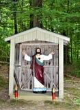 Relikskrin för St Anne ` s, öLa Motte, storslagna Island County, Vermont, Förenta staterna USA SjöChamplain region arkivbilder