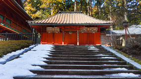 Relikskrin på det Rinnoji tempelet, Nikko, Japan Arkivfoton