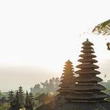 Relikskrinblast i Pura Besakih Temple Arkivfoto