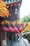 Relikt-Tempel Buddhas Toothe in Chinatown in Singapur, mit Singa stockfotografie