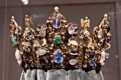 Relikwieënschrijnkroon van Henry II, München Residenz, Duitsland Royalty-vrije Stock Foto's