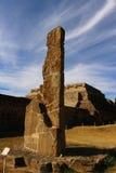 Relique de Zapotec avec un ciel effilé images stock