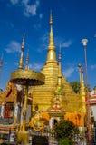 Reliques d'or de Bouddha s Photographie stock libre de droits