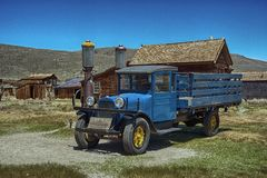 Reliquia del camión de 1927 Dodge, situada en Bodie State Park, CA Fotos de archivo libres de regalías