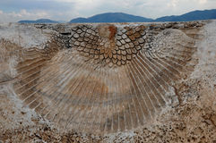 Reliquia del teatro di Hierapolis, città antica di Hierapolis, Pamukkale, Immagine Stock