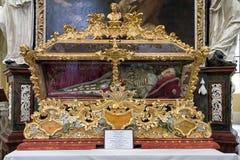 Reliquias de San Vicente en el kutna Hora, República Checa imagen de archivo