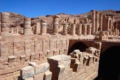 Reliquias en el Petra, Jordania Imagen de archivo