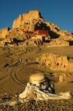 Reliquie di un castello tibetano antico Immagine Stock
