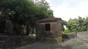 Reliquie e resti murati intra muros del XVI secolo della città stock footage