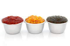 Relish Selection Stock Photography