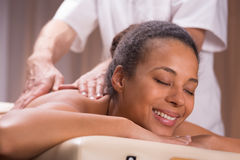 Relishing delightful moments in spa centre Stock Photo
