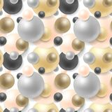 Relistic pearl seamless background. Fashionable chic pattern. Vector repeatable illustration. Relistic pearl seamless background. Fashionable chic pattern Stock Photos