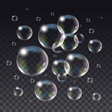 Relistic vector  Soap Bubbles. Stock Images