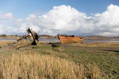 Relitti di Wyre del fiume Fotografia Stock Libera da Diritti