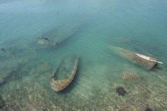Relitti sotto il mare Fotografie Stock