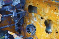 Relitto arancio dell'automobile Fotografie Stock Libere da Diritti