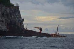 Relitto caraibico della nave vicino a St Vincent fotografia stock