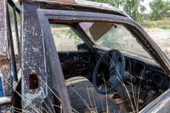 Relitto dell'automobile della raccolta Immagini Stock Libere da Diritti