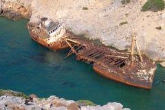 Relitto della nave di Olimpia in Amorgos fotografia stock libera da diritti